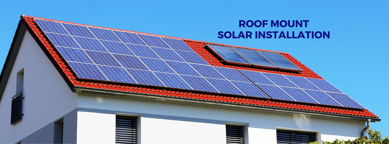 Roof mount solar installation
